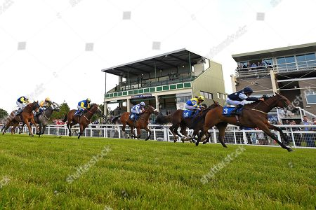 Winner of The Shadwell Stud Racing Excellence Apprentice Handicap  Moorovertheridge ridden by Harry Burns and trained by Grace Harris during Afternoon Racing at Salisbury Racecourse on 17th May 2018