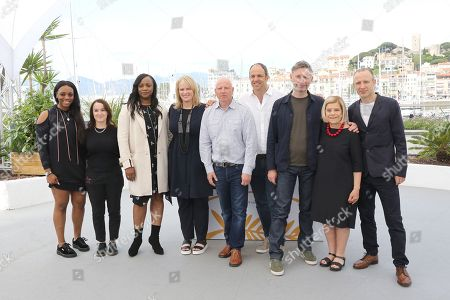 Stock Picture of (L-R) Rayah Houston, Vanessa Tovell, Pat Houston, Lisa Erspamer, Jonathan Chinn, Simon Chinn, Kevin MacDonald, Nicole David and editor Sam Rice-Edwards