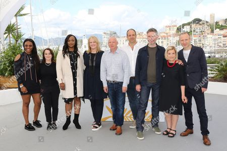 (L-R) Rayah Houston, Vanessa Tovell, Pat Houston, Lisa Erspamer, Jonathan Chinn, Simon Chinn, Kevin MacDonald, Nicole David and editor Sam Rice-Edwards