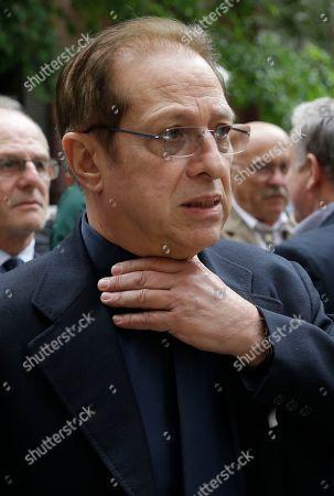Paolo Berlusconi attends Italian entrepreneur Salvatore Ligresti's funeral, in Milan, Italy