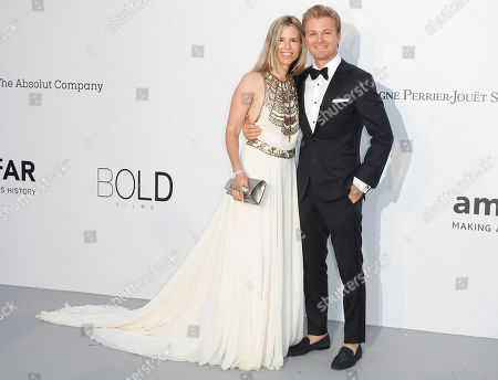 Nico Rosberg and wife Vivian Sibold attend the Cinema Against AIDS amfAR gala 2018 held at the Hotel du Cap, Eden Roc in Cap d'Antibes, France, 17 May 2018, during the 71st annual Cannes Film Festival. The festival runs from 08 to 19 May