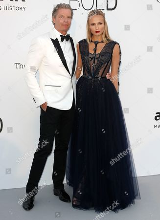Stock Image of Peter Bakker and Natasha Poly attend the Cinema Against AIDS amfAR gala 2018 held at the Hotel du Cap, Eden Roc in Cap d'Antibes, France, 17 May 2018, during the 71st annual Cannes Film Festival. The festival runs from 08 to 19 May.