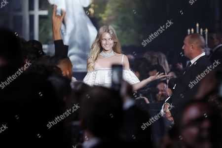 Stock Photo of Toni Garn attends the auction dinner of the Cinema Against AIDS amfAR gala 2018 held at the Hotel du Cap, Eden Roc in Cap d'Antibes, France, 17 May 2018. The aucton is part of the 71st annual Cannes Film Festival that runs from 08 to 19 May.