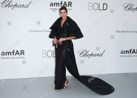 Christina Pitanguy poses for photographers upon arrival at the amfAR, Cinema Against AIDS, benefit at the Hotel du Cap-Eden-Roc, during the 71st international Cannes film festival, in Cap d'Antibes, southern France