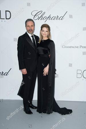Denis Villeneuve, Tanya Lapointe. Denis Villeneuve and Tanya Lapointe pose for photographers upon arrival at the amfAR, Cinema Against AIDS, benefit at the Hotel du Cap-Eden-Roc, during the 71st international Cannes film festival, in Cap d'Antibes, southern France