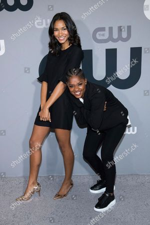 Greta Onieogou, Bre-Z. Greta Onieogou, left, and Bre-Z attend The CW Network 2018 Upfront at The London NYC, in New York