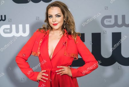 Stock Picture of Elizabeth Gillies attends The CW Network 2018 Upfront at The London NYC, in New York