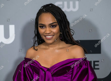 China Anne McClain attends The CW Network 2018 Upfront at The London NYC, in New York