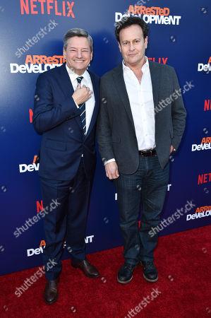 Ted Sarandos and Mitchell Hurwitz