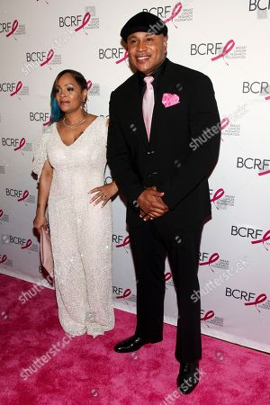 Simone Smith, LL Cool J. Simone Smith, left, and LL Cool J, right, attend the Breast Cancer Research Foundation's The Hot Pink Party at the Park Avenue Armory, in New York