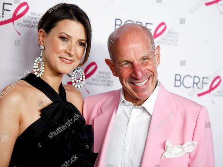 Lizzie Tisch, Jonathan Tisch. Lizzie Tisch, left, and Jonathan Tisch, right, attend the Breast Cancer Research Foundation's The Hot Pink Party at the Park Avenue Armory, in New York