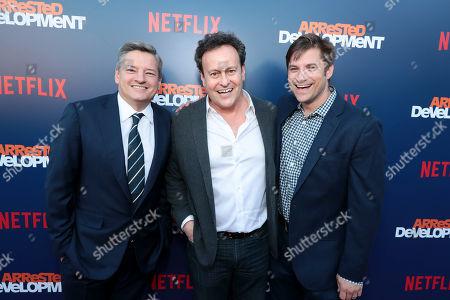 Ted Sarandos, Chief Content Officer, Netflix, Mitchell Hurwitz, Executive Producer, Blair Fetter, Director, Original Series, Netflix,