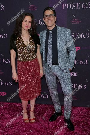 """Mac Quayle, guest. Mac Quayle, right, and guest attend the premiere of FX's """"Pose"""" at the Hammerstein Ballroom, in New York"""