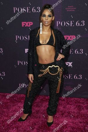 """Stock Picture of Vogue choreographer Danielle Polanco attends the premiere of FX's """"Pose"""" at the Hammerstein Ballroom, in New York"""