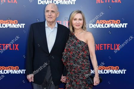 "Jeffrey Tambor, Kasia Ostlun. Jeffrey Tambor, left, and Kasia Ostlun attend the LA Premiere of ""Arrested Development"" Season Five at Raleigh Studios Hollywood, in Los Angeles"