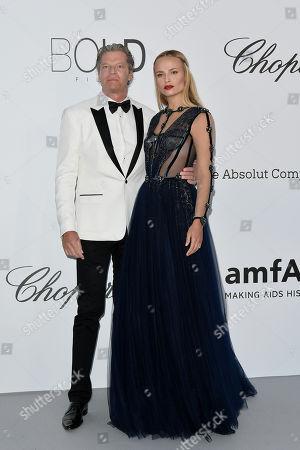 Natasha Poly with husband Peter Bakker