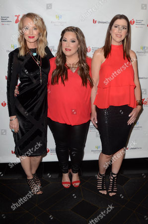 Stock Image of Chynna Phillips, Carnie Wilson and Wendy Wilson