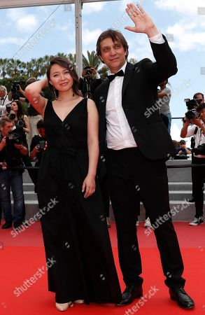 Stock Picture of Director Sergey Dvortsevoy and actress Samal Yeslyamova arrive for the screening of 'Ayka' during the 71st annual Cannes Film Festival, in Cannes, France, 18 May 2018. The movie is presented in the Official Competition of the festival which runs from 08 to 19 May.