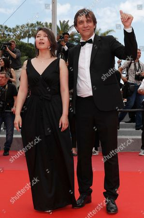 Director Sergey Dvortsevoy and actress Samal Yeslyamova arrive for the screening of 'Ayka' during the 71st annual Cannes Film Festival, in Cannes, France, 18 May 2018. The movie is presented in the Official Competition of the festival which runs from 08 to 19 May.