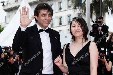 Director Sergei Dvortsevoy and actress Samal Yeslyamova arrive for the screening of 'Ayka' during the 71st annual Cannes Film Festival, in Cannes, France, 18 May 2018. The movie is presented in the Official Competition of the festival which runs from 08 to 19 May.
