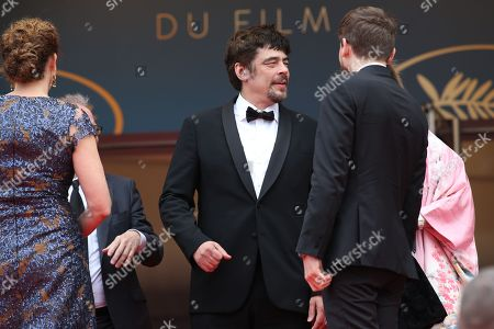 Stock Picture of Kantemir Balagov, Julie Huntsinger, Benicio Del Toro with Annemarie Jacir and Virginie Ledoyen
