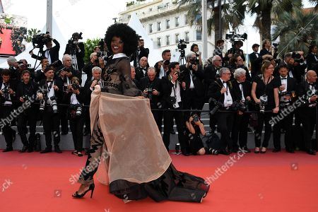 Miriam Odemba arrives for the screening of 'The Wild Pear Tree (Ahlat Agaci)' during the 71st annual Cannes Film Festival, in Cannes, France, 18 May 2018. The movie is presented in the Official Competition of the festival which runs from 08 to 19 May.