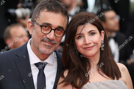 Ebru Ceylan, Nuri Bilge Ceylan. Writer Ebru Ceylan, right, and director Nuri Bilge Ceylan pose for photographers upon arrival at the premiere of the film 'The Wild Pear Tree' at the 71st international film festival, Cannes, southern France