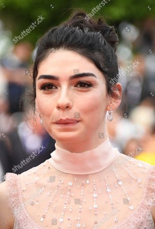 Actress Hazar Erguclu poses for photographers upon arrival at the premiere of the film 'The Wild Pear Tree' at the 71st international film festival, Cannes, southern France