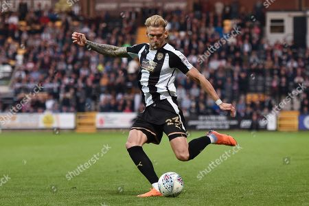 Notts County defender Daniel Jones (23) during the EFL Sky Bet League 2 match between Notts County and Coventry City at Meadow Lane, Nottingham. Picture by Jon Hobley