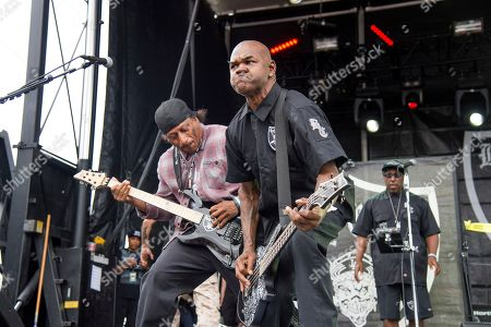 Stock Picture of Ernie C, Vincent Price. Ernie C, left, and Vincent Price of Body Count perform at the Rock On The Range Music Festival at Mapfre Stadium, in Columbus, Ohio