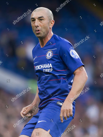 Stock Image of Roberto Di Matteo of Chelsea Legends in action, Chelsea Legends v Inter Milan Forever, Ray Wilkins Memorial Match, Stamford Bridge, London United Kingdom, 18th May 2018