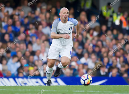Stock Photo of Esteban Cambiasso of Inter Forever in action, Chelsea Legends v Inter Milan Forever, Ray Wilkins Memorial Match, Stamford Bridge, London United Kingdom, 18th May 2018