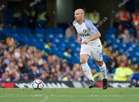 Esteban Cambiasso of Inter Forever in action, Chelsea Legends v Inter Milan Forever, Ray Wilkins Memorial Match, Stamford Bridge, London United Kingdom, 18th May 2018