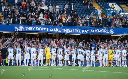 A tribute banner to Chelsea legend Ray Wilkins, Chelsea Legends v Inter Milan Forever, Ray Wilkins Memorial Match, Stamford Bridge, London United Kingdom, 18th May 2018