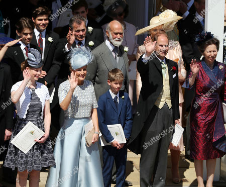 Lady Louise Windsor, Sophie Countess of Wessex, James Viscount Severn, Prince Michael of Kent, Prince Edward and Princess Anne