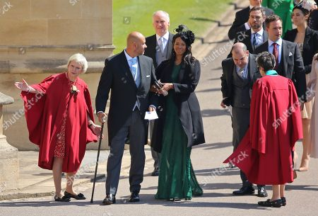 Patrick J Adams and guests arrive at Windsor Castle