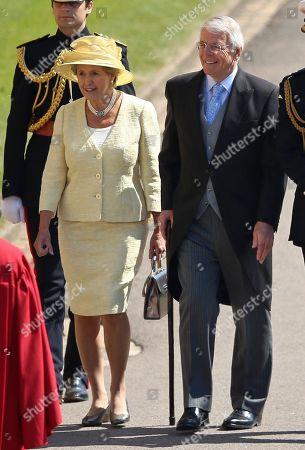 Sir John Major and Norma Major at Windsor Castle