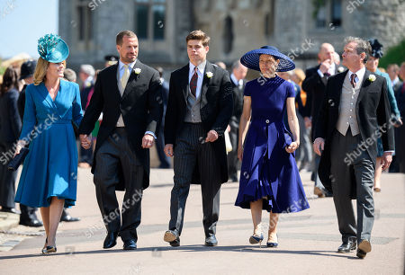 Lady Sarah Chatto, Daniel Chatto, Arthur Chatto, Autumn Phillips, Peter Phillips