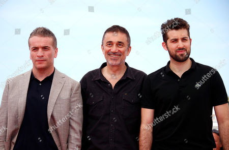 (L-R) Actor Murat Cemcir, director Nuri Bilge Ceylan and actor Dogu Demirkol pose during the photocall for 'The Wild Pear Tree  (Ahlat Agaci)' at the 71st annual Cannes Film Festival, in Cannes, France, 19 May 2018. The movie is presented in the Official Competition of the festival which runs from 08 to 19 May.