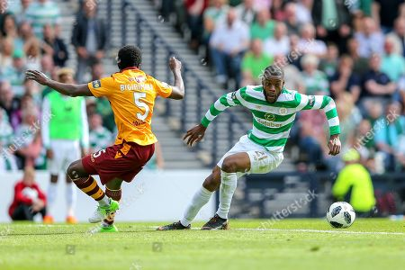 Olivier Ntcham (#21) of Celtic takes on Gael Bigirimana (#5) of Motherwell during the William Hill Scottish Cup match between Celtic and Motherwell at Hampden Park, Glasgow. Picture by Craig Doyle