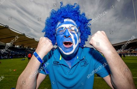 Leinster vs Munster. Leinster fan John Martin