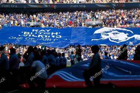Banner in memory of Ray Wilkins