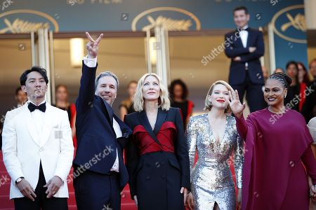 (L-R) Chang Chen, Denis Villeneuve, Cate Blanchett, Lea Seydoux and Ava DuVernay arrive for the screening of 'The Man who Killed Dom Quixote' and Closing Awards Ceremony of the 71st annual Cannes Film Festival, in Cannes, France, 19 May 2018.