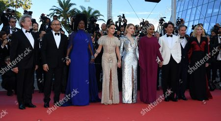 (R-L) Jury president Cate Blanchett, Jury members Denis Villeneuve, Chang Chen, Ava DuVernay, Lea Seydoux, Kristen Stewart, Khadja Nin, Andrey Zvyagintsev and Robert Guediguian arrive for the screening of 'The Man who Killed Dom Quixote' and Closing Awards Ceremony of the 71st annual Cannes Film Festival, in Cannes, France, 19 May 2018.