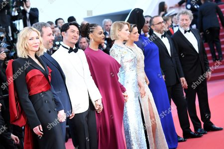 (L-R Jury president Cate Blanchett, Jury members Denis Villeneuve, Chang Chen, Ava DuVernay, Lea Seydoux, Kristen Stewart, Khadja Nin, Andrey Zvyagintsev and Robert Guediguian arrive for the screening of 'The Man who Killed Dom Quixote' and Closing Awards Ceremony of the 71st annual Cannes Film Festival, in Cannes, France, 19 May 2018.