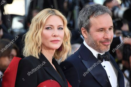 Cate Blanchett, Denis Villeneuve. Jury President Cate Blanchett, left, and jury member Denis Villeneuve pose for photographers upon arrival at the premiere of the film 'The Man Who Killed Don Quixote' and the closing ceremony of the 71st international film festival, Cannes, southern France