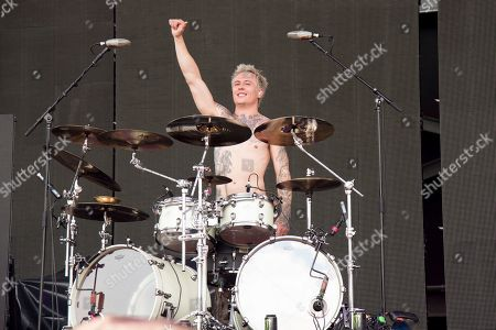 Stock Picture of James Cassells of Asking Alexandria performs at the Rock On The Range Music Festival at Mapfre Stadium, in Columbus, Ohio