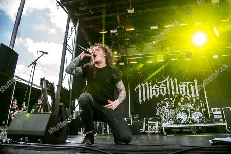 Levi Benton of Miss May I performs at the Rock On The Range Music Festival at Mapfre Stadium, in Columbus, Ohio