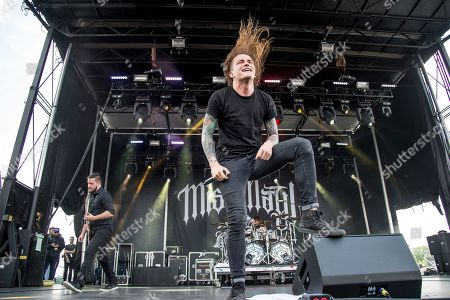 Stock Photo of Levi Benton of Miss May I performs at the Rock On The Range Music Festival at Mapfre Stadium, in Columbus, Ohio