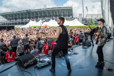 Justin Aufdemkampe of Miss May I performs at the Rock On The Range Music Festival at Mapfre Stadium, in Columbus, Ohio